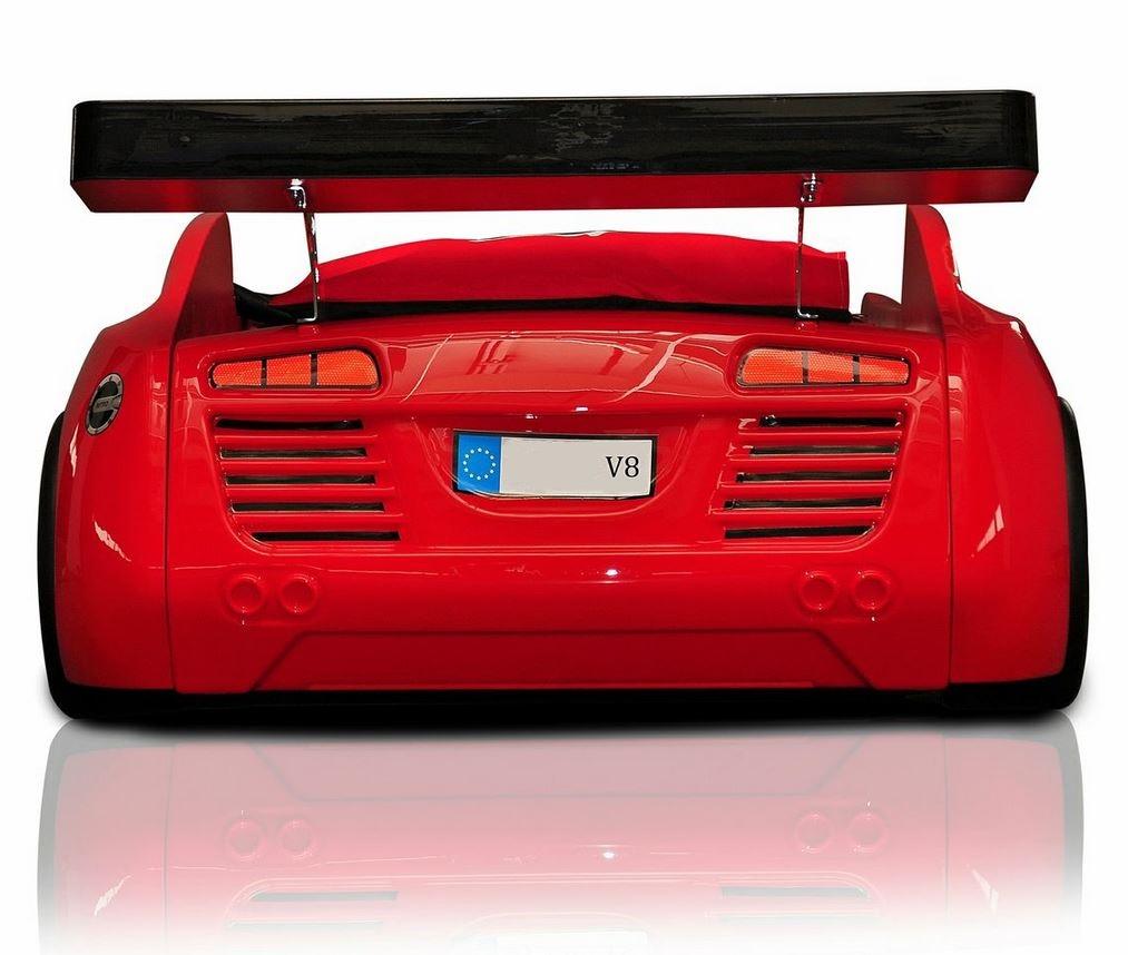 Autobed / racebed V8 rood kinderbed kopen? Specialist in ...