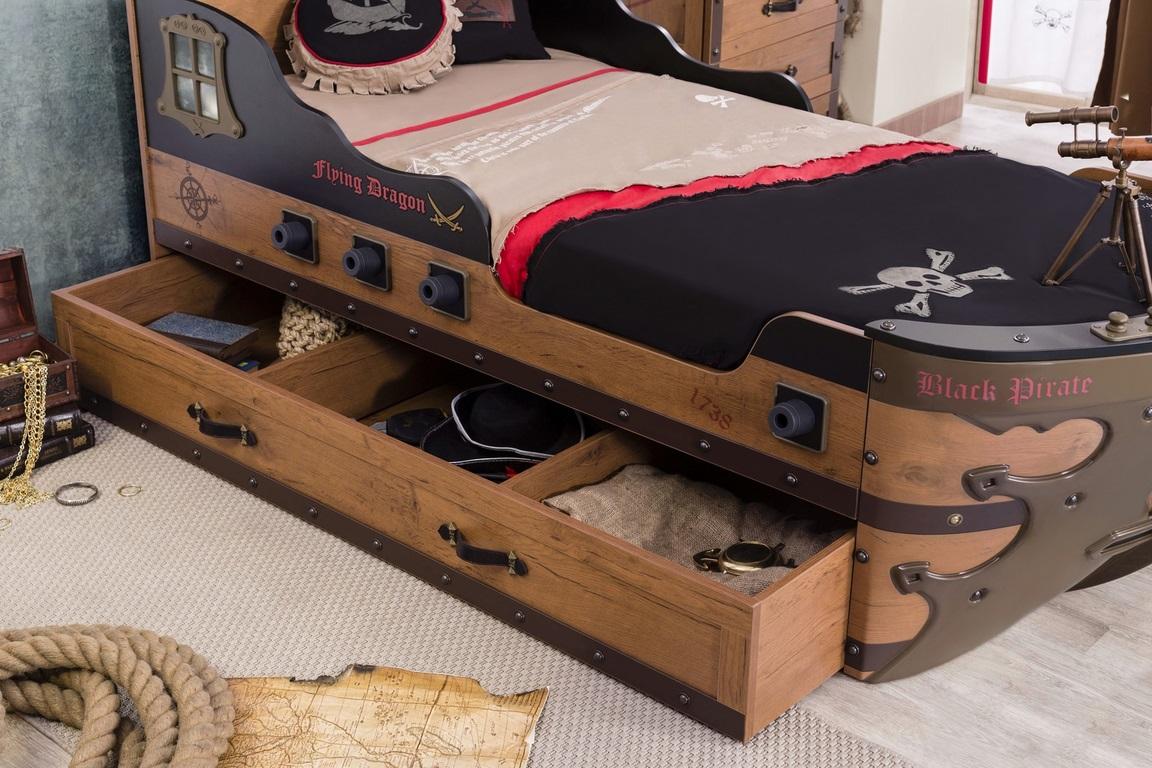 Black pirate schipbed jongenskamer afgerond specialist in ...