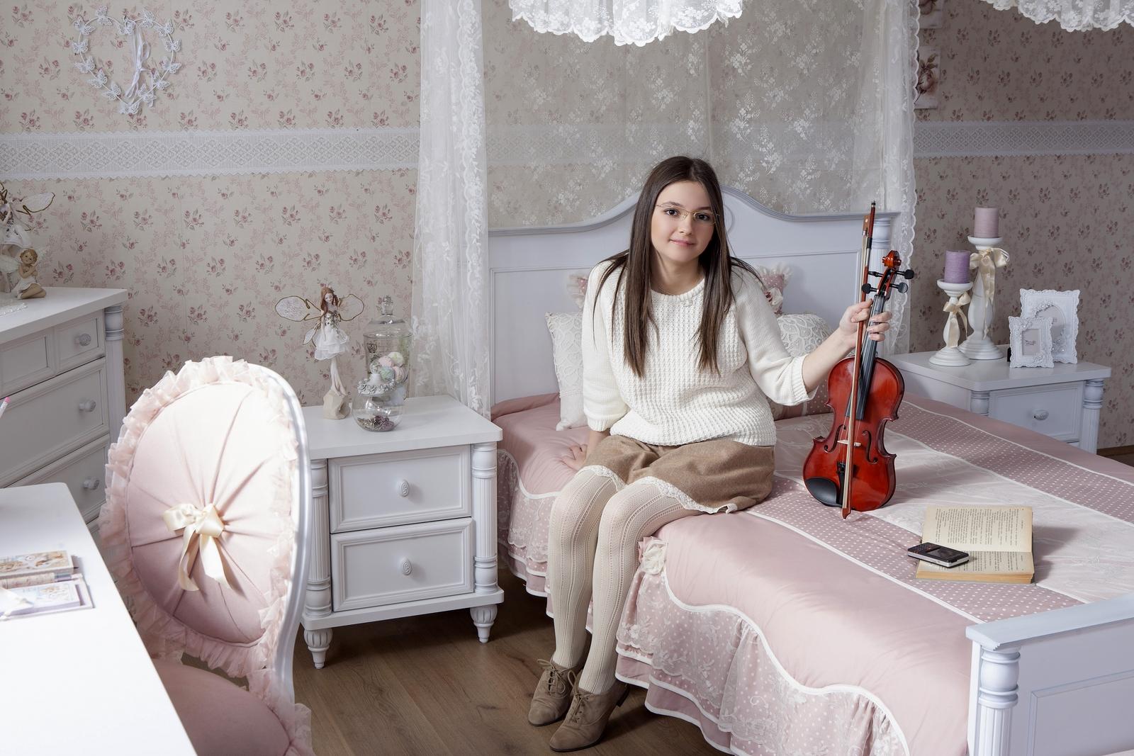 Romantic twijfelaar meisjes bed 200 x 140 specialist in ...